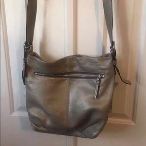 Silver coach purse